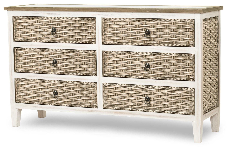 sea breeze six drawer dresser by Sea Winds Trading Company at Johnny Janosik