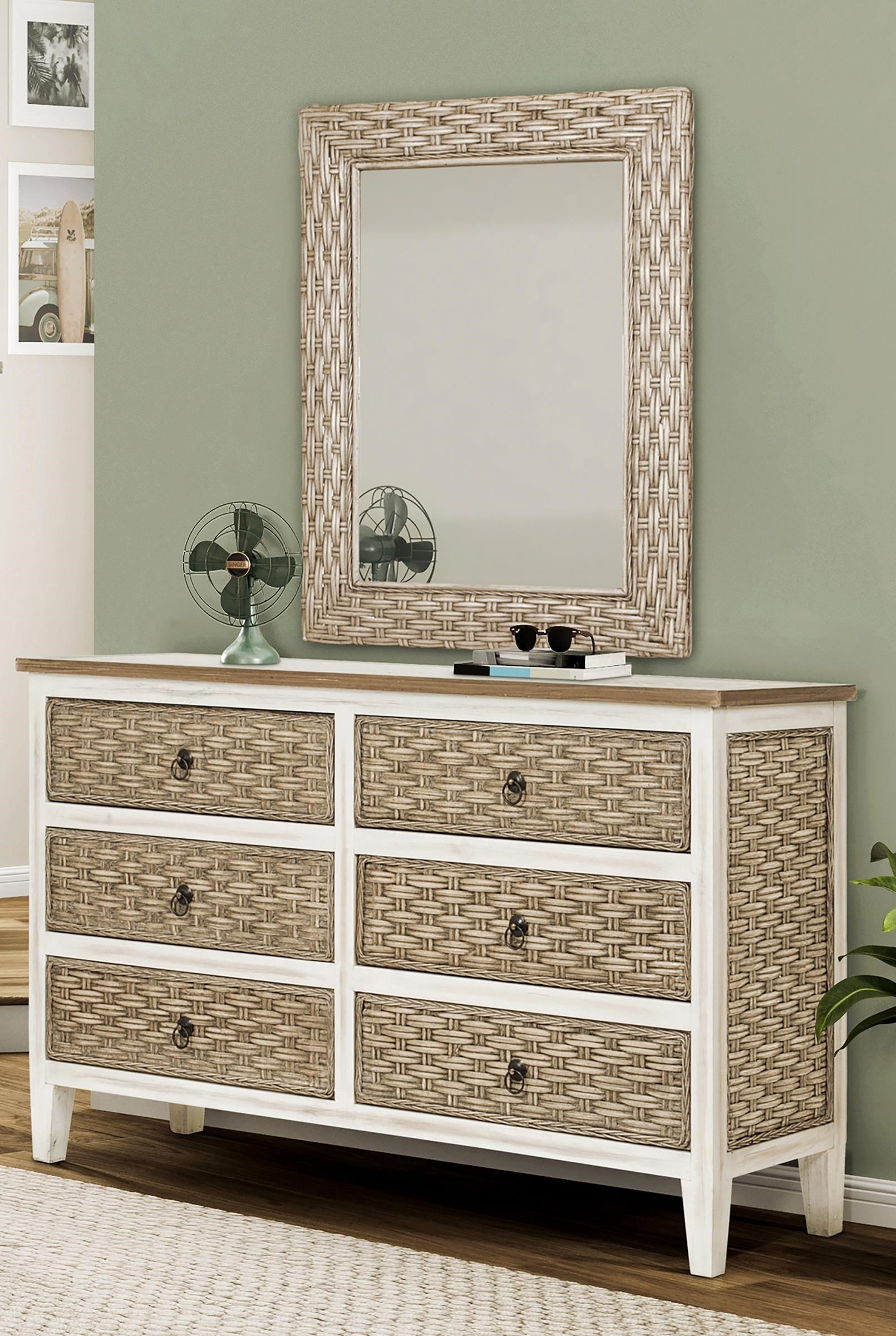 sea breeze Dresser and Mirror by Sea Winds Trading Company at Johnny Janosik