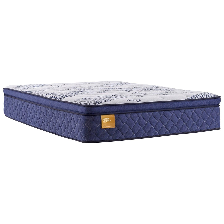"B3 Plush Pillow Top King 14"" Plush Pillow Top Adj Set by Sealy at Sprintz Furniture"