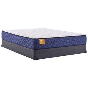 "King 10 1/2"" Cushion Firm Tight Top Mattress and 9"" High Profile Foundation"