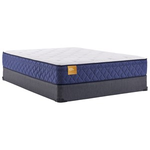 "Twin 12"" Plush Euro Top Innerspring Mattress and 9"" High Profile Foundation"