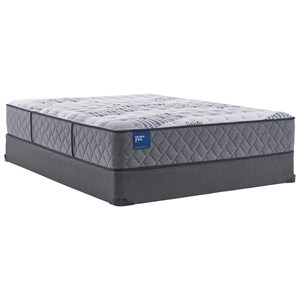 "Twin 12 1/2"" Plush Encased Coil Mattress and 5"" Low Profile Foundation"