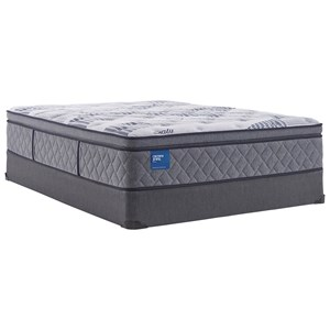 "Twin Extra Long 14"" Plush Pillow Top Encased Coil Mattress and 5"" Low Profile Foundation"