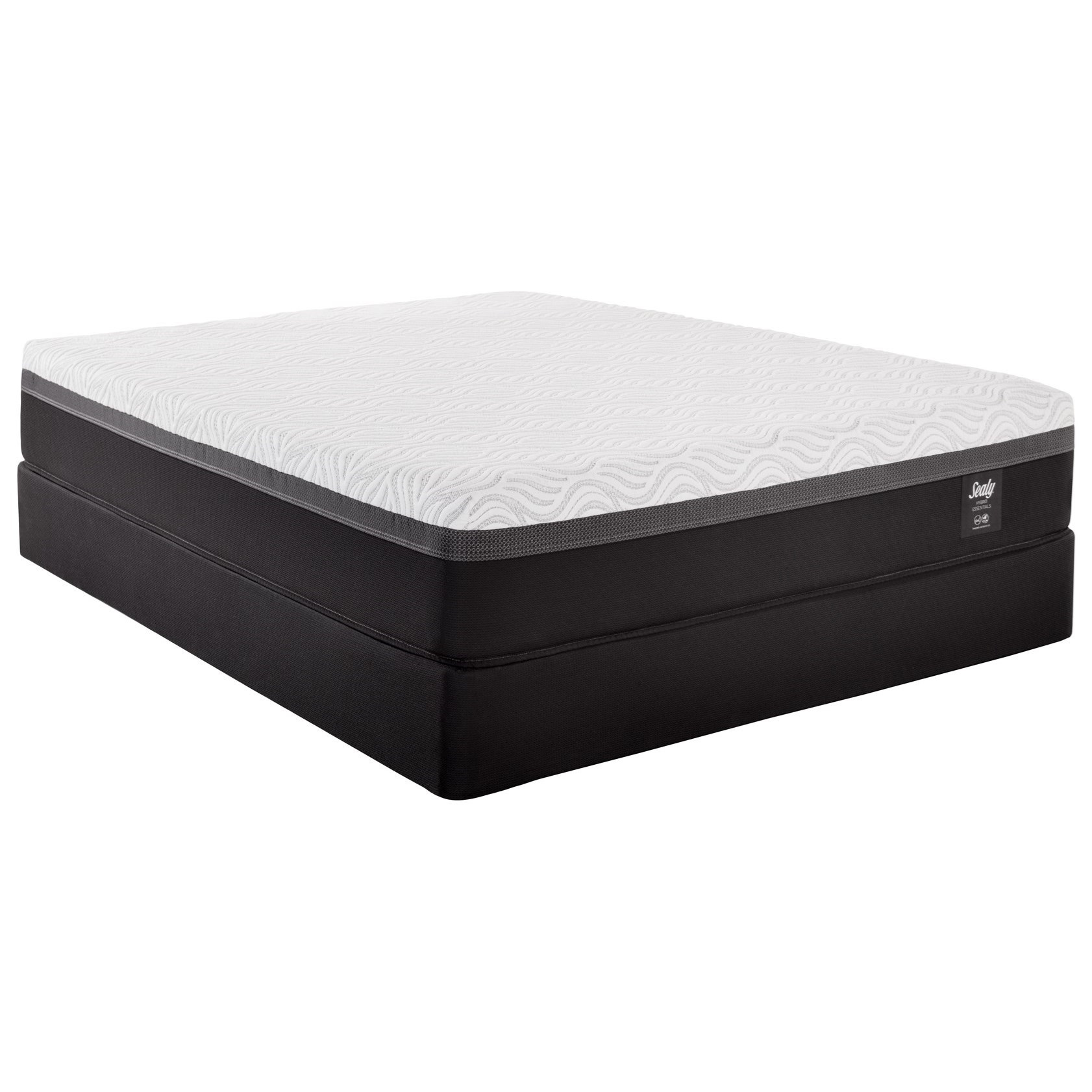 Essentials Z5 Trust II Twin Hybrid Mattress Set by Sealy at Sprintz Furniture