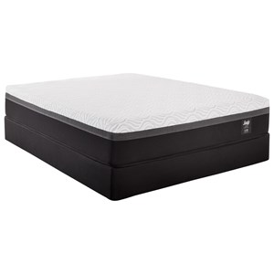 "King Essentials Hybrid Mattress and 5"" Low Profile StableSupport Foundation"