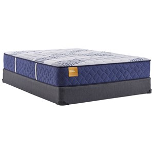 "Full 12 1/2"" Cushion Firm Encased Coil Mattress and 9"" High Profile Foundation"