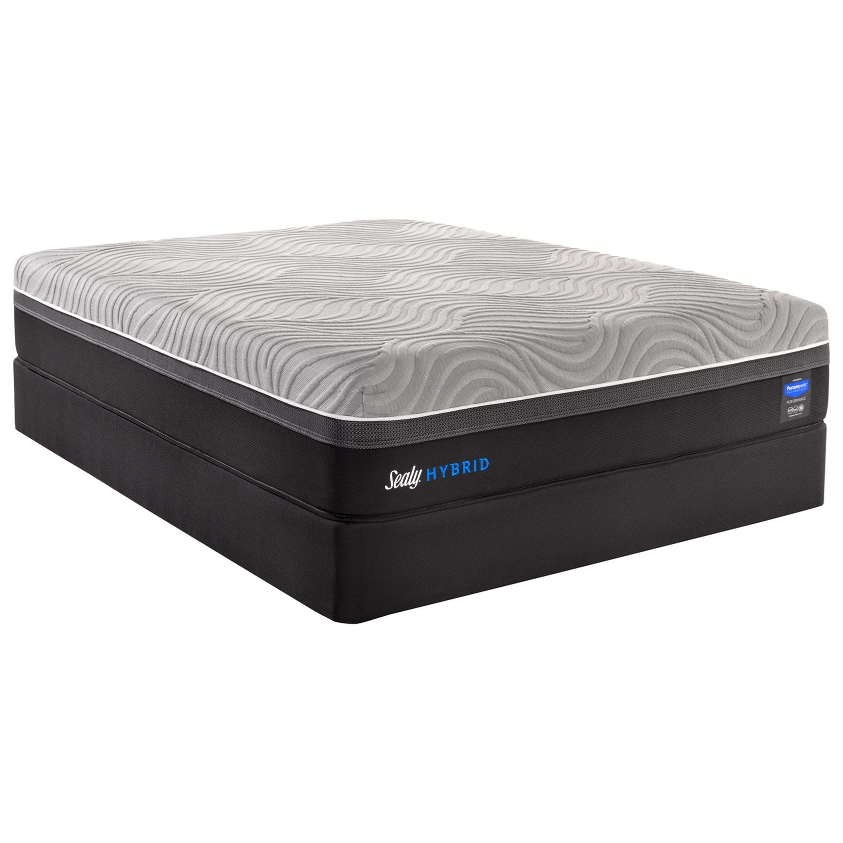 Posturepedic Hybrid Copper II Twin Plush Hybrid Mattress Set by Sealy at Gill Brothers Furniture