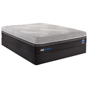 "Queen Plush Performance Hybrid Mattress and 9"" Regular Height Boxspring"