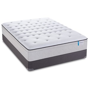 """Twin 13"""" Cushion Firm Euro Top Mattress and StableSupport Foundation"""