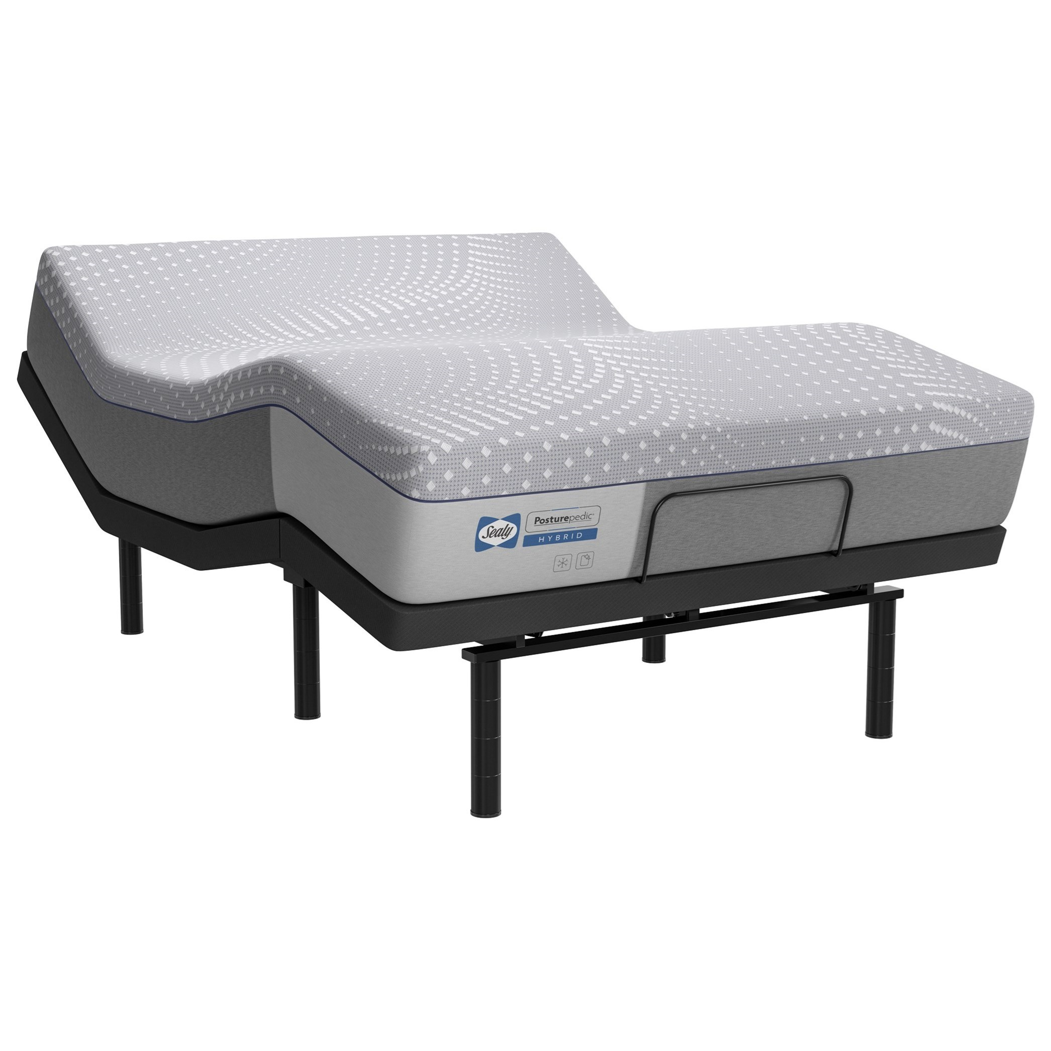 PPH5 Posturpedic Hybrid Firm King Lacey Firm Hybrid Adjustable Set by Sealy at Rife's Home Furniture