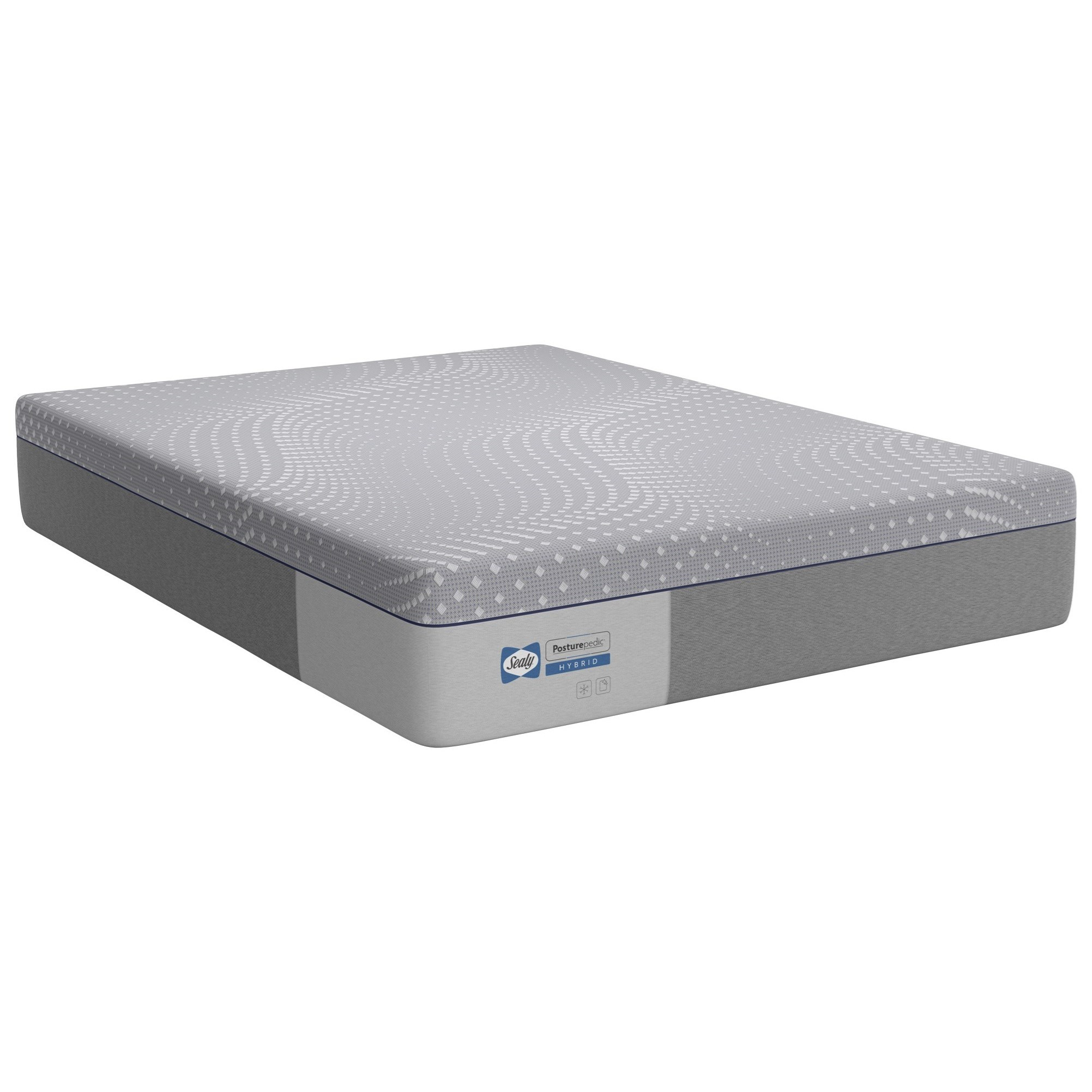 "PPH5 Posturpedic Hybrid Firm Cal King 13"" Firm Hybrid Mattress by Sealy at Malouf Furniture Co."