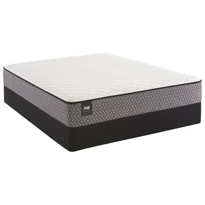 "Cal King 11"" Cushion Firm Innerspring Mattress and StableSupport™ Foundation"