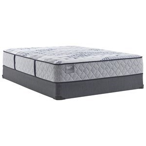 "Royal Ascot CF TT B4 Twin 12 1/2"" Cushion Firm Mattress Set by Sealy at Novello Home Furnishings"