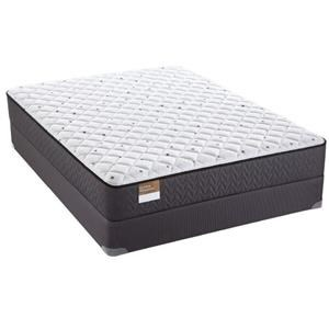 "Queen 12 1/2"" Cushion Firm Mattress and 9"" SupportFlex™ Foundation"