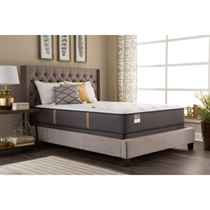 Queen Impeccable Grace Plush Pocketed Coil Mattress and Low Profile SupportFlex™ Foundation