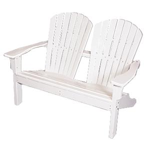 Seaside Casual Adirondack Shellback Love Seat