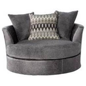 Contemporary Barrel Chair with Flared Back