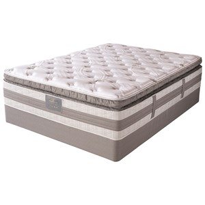 Queen Super Pillow Top Hybrid Mattress and High Profile Foundation