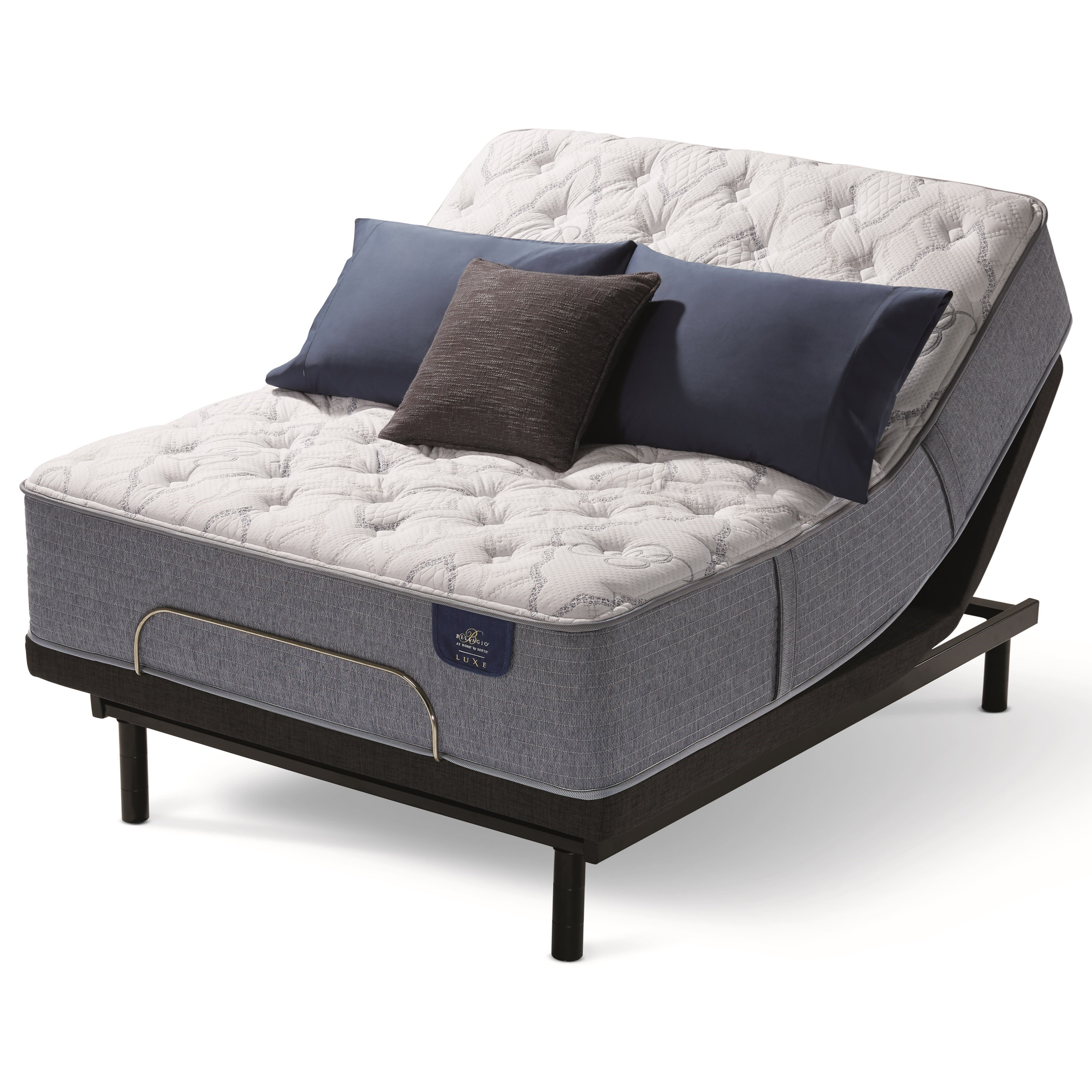 Bellagio Bellissimo Firm Twin XL Firm Hybrid Adjustable Set by Serta at Adcock Furniture
