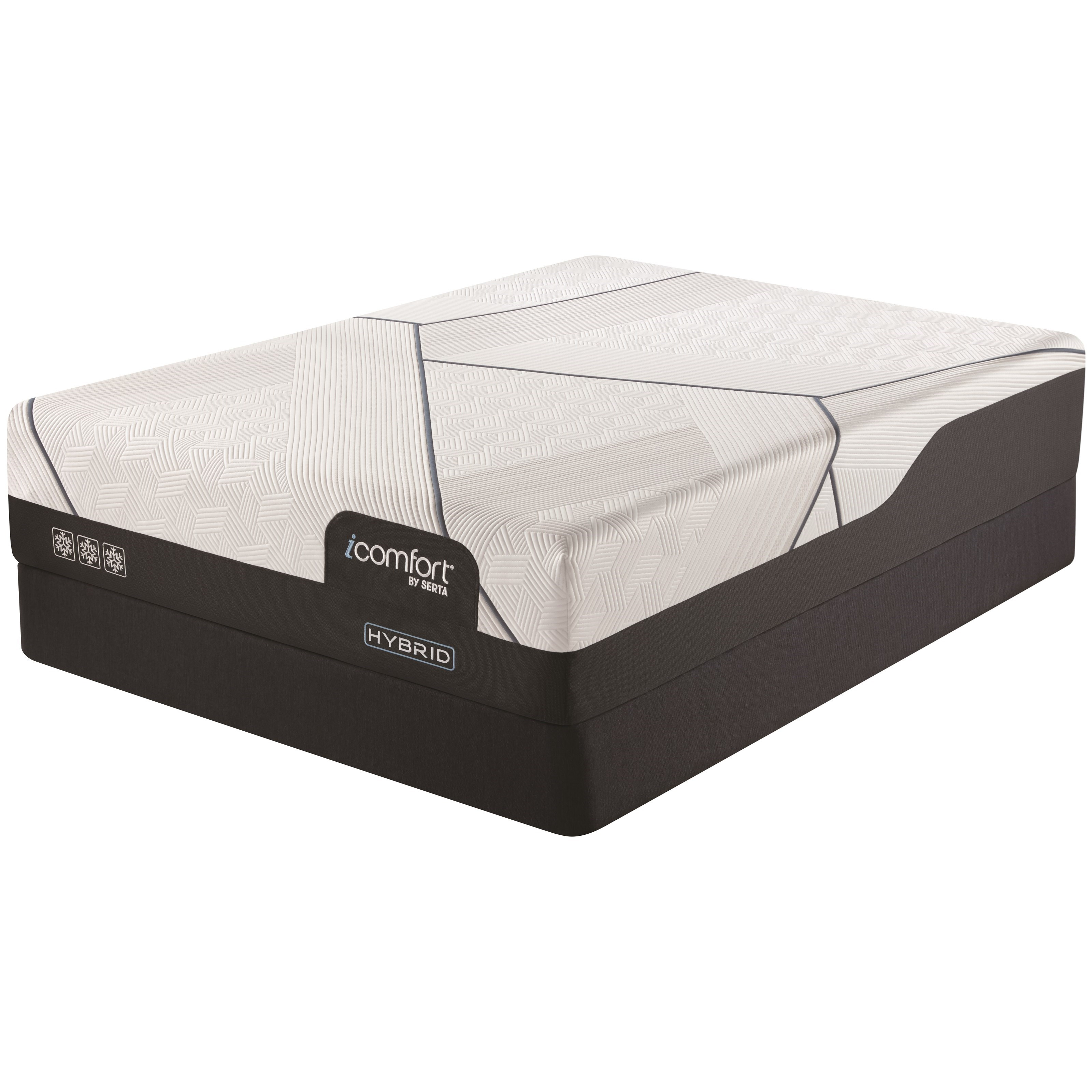 "CF3000 Hybrid Plush Full 13 1/2"" Plush Hybrid Mattress Set by Serta at Darvin Furniture"