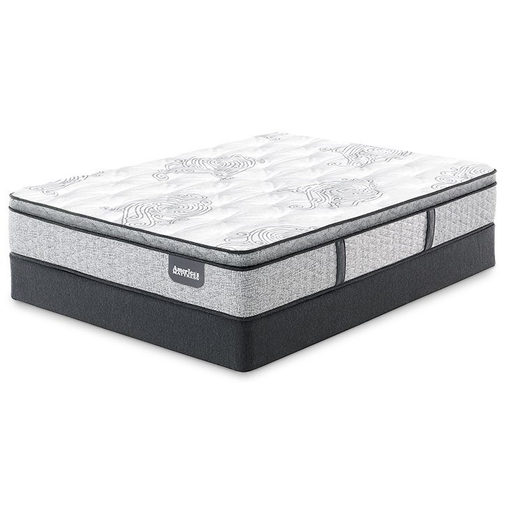 Dolan Firm PT Cal King Pocketed Coil Low Profile Set by Serta at Goffena Furniture & Mattress Center