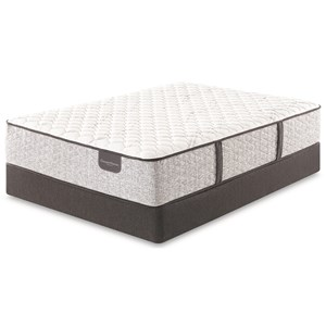 """Twin Extra Long Extra Firm Pocketed Coil Mattress and 9"""" Foundation"""