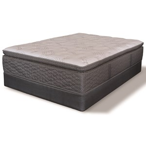 "Queen Euro Pillow Top Pocketed Coil Mattress and 9"" Regular iAmerica Box"