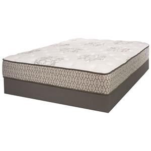 Twin Extra Long Firm Mattress and Wood Foundation