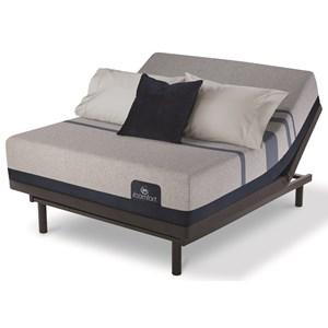 King Cushion Firm Gel Memory Foam Mattress and Motion Essentials III Adjustable Base