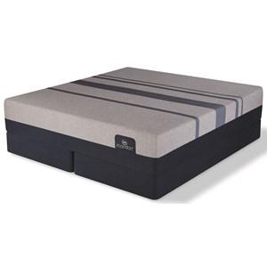 "King Elite Luxury Firm Gel Memory Foam Mattress and 9"" iComfort Foundation"