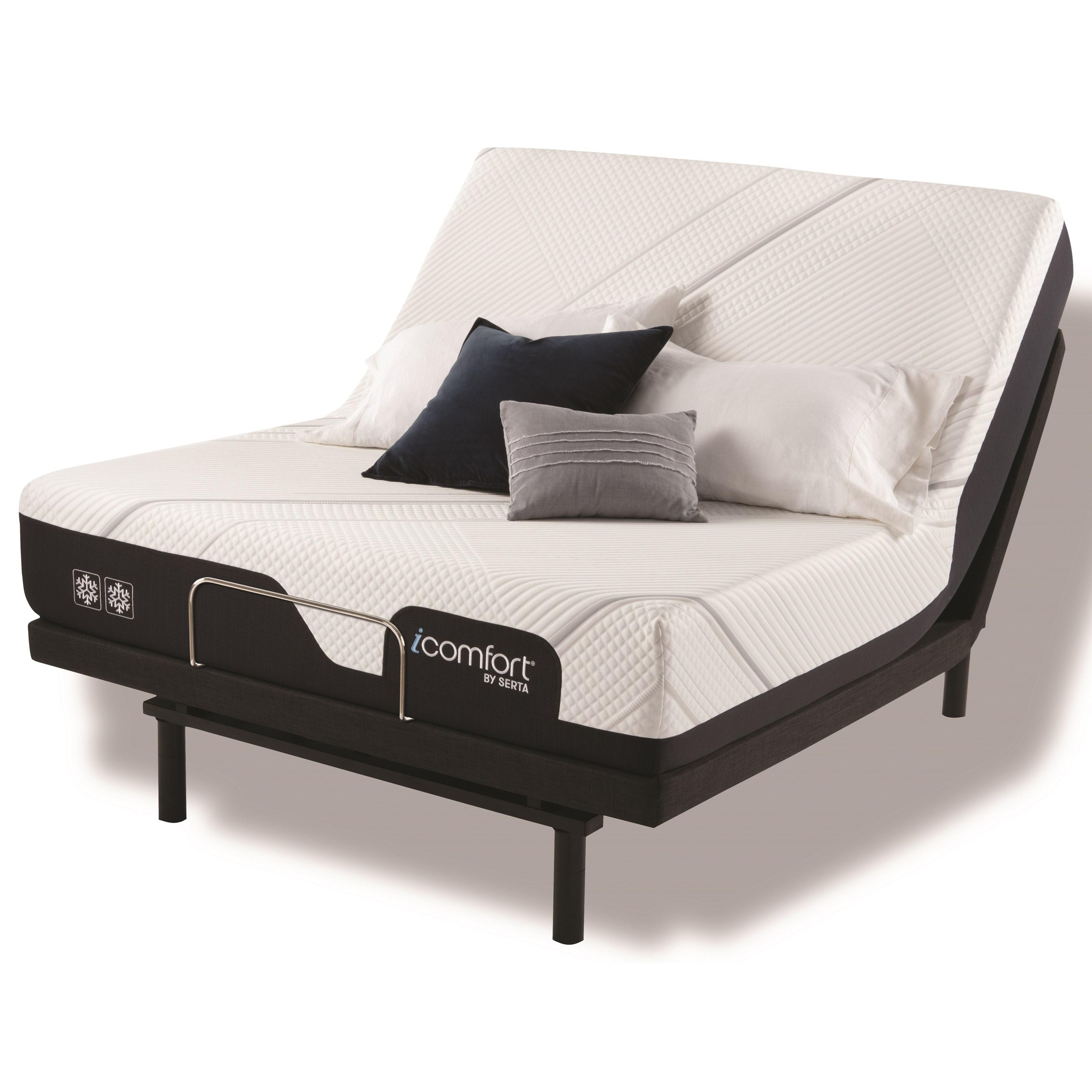 "iComfort CF2000 Firm Queen 11 1/2"" Firm Memory Foam Adj Set by Serta at HomeWorld Furniture"