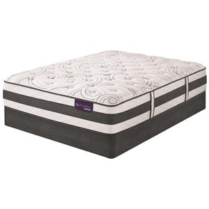 Queen Plush Hybrid Quilted Mattress and Low Profile StabL-Base Foundation