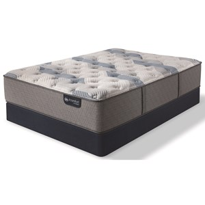 Twin Extra Long Firm Hybrid Mattress and Blue Fusion Low Profile Foundation