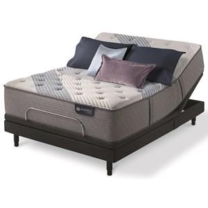 King Luxury Firm Hybrid Mattress and Motion Essentials III Adjustable Base