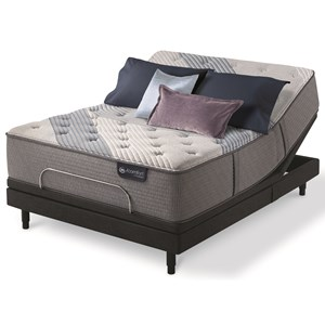 Queen Plush Hybrid Mattress and Motion Perfect IV Adjustable Base