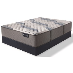 Twin XL Extra Firm Hybrid Mattress and Blue Fusion High Profile Foundation