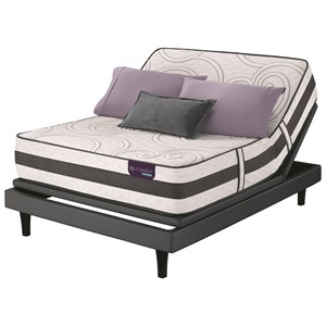 King Firm Hybrid Smooth Top Mattress and Divided King Motion Essentials III Adjustable Base