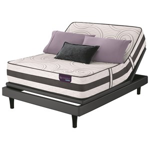 Twin Extra Long Plush Hybrid Mattress and Motionplus Adjustable Foundation