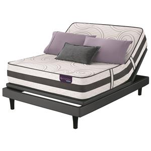 Split King Firm Hybrid Quilted Mattress and Motion Perfect III Adjustable Base