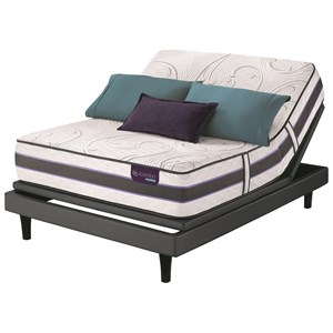King SmartSupport? Hybrid Mattress and Divided King Motionplus Adjustable Foundation