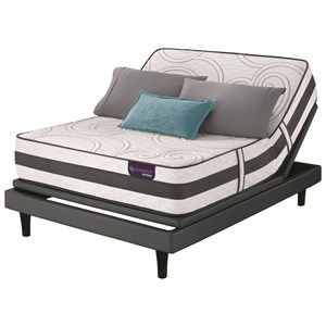 Twin XL Extra Firm Hybrid Mattress and Motionplus Adjustable Foundation