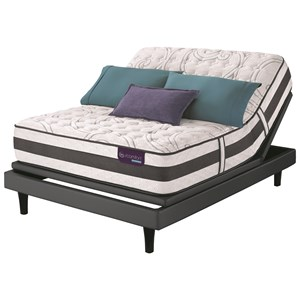 Queen Extra Firm Hybrid Quilted Mattress and Motion Select Adjustable Base