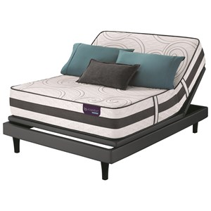 Cal King Extra Plush Hybrid Mattress and Motionplus Adjustable Foundation