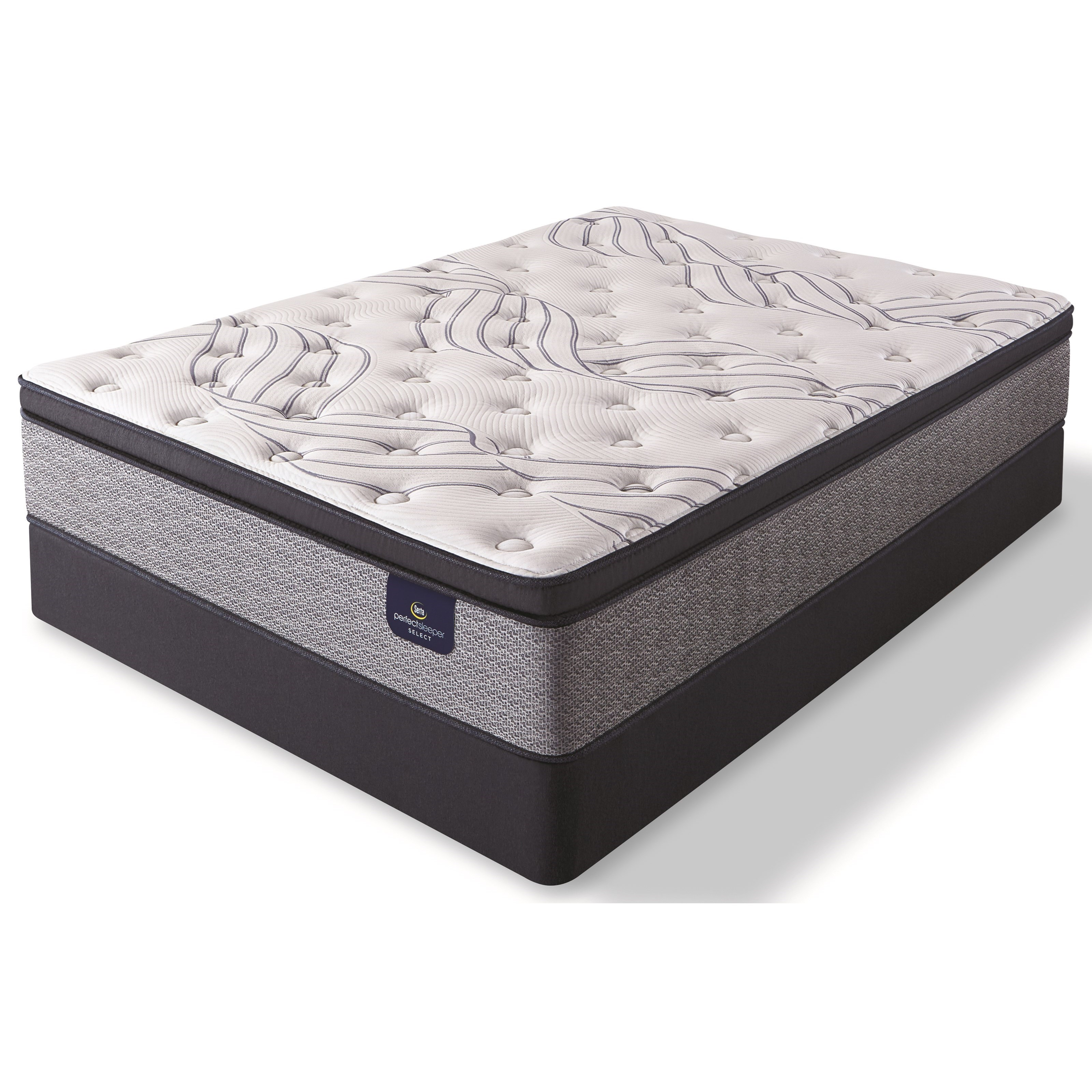 Kleinmon II Firm Pillow Top Queen Pocketed Coil Mattress Set by Serta at Darvin Furniture