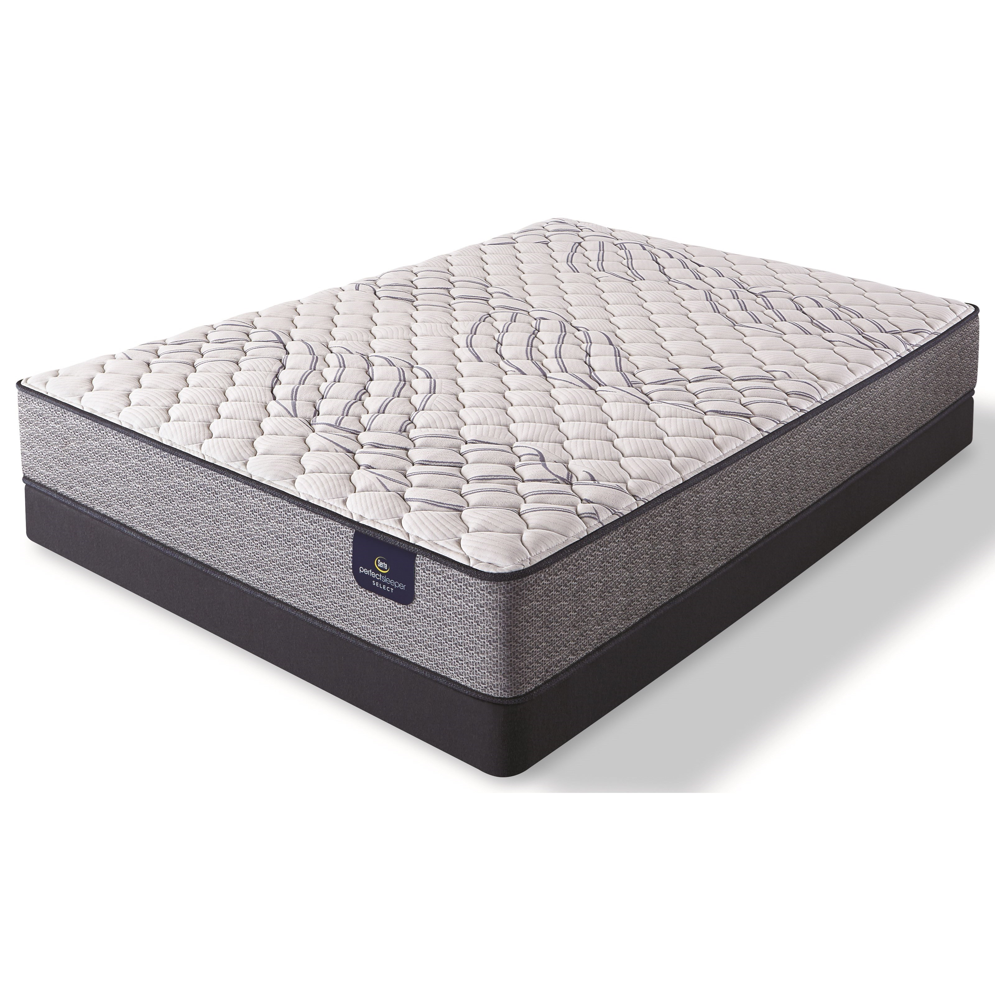 Kleinmon II Firm King Pocketed Coil LP Set by Serta at Fisher Home Furnishings