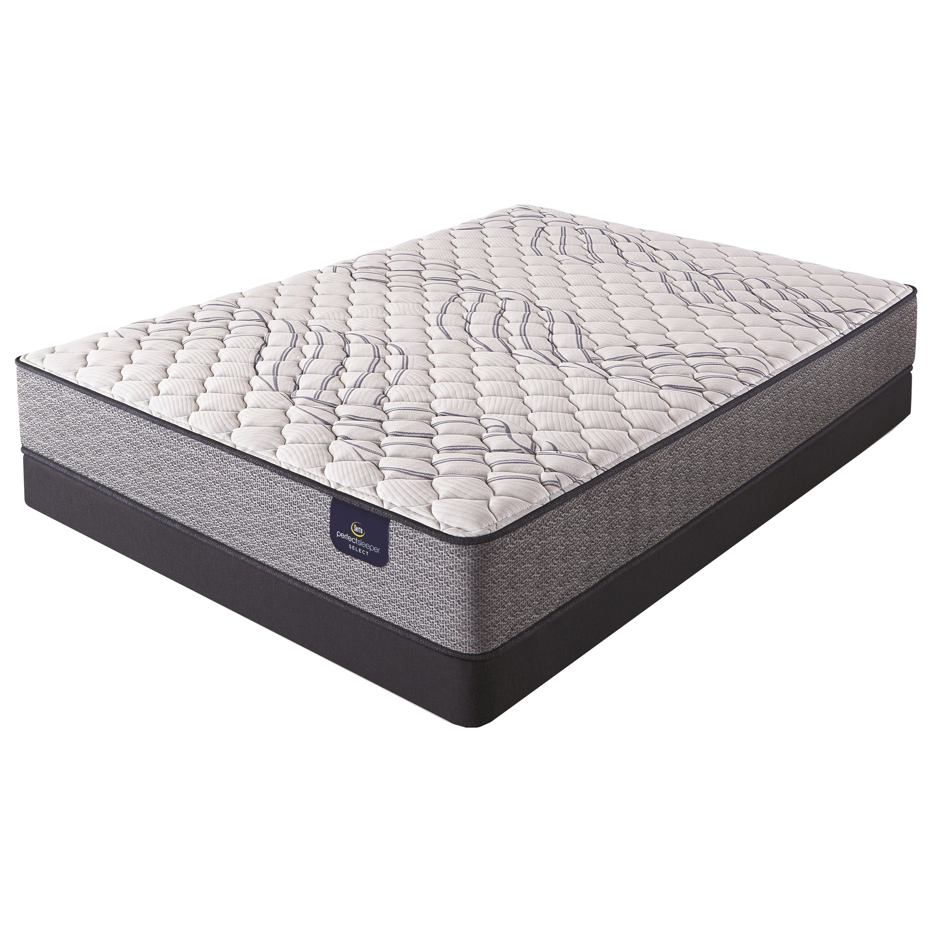 Mayville Firm TT Queen Firm Tight Top Low Profile Set by Serta at Walker's Mattress
