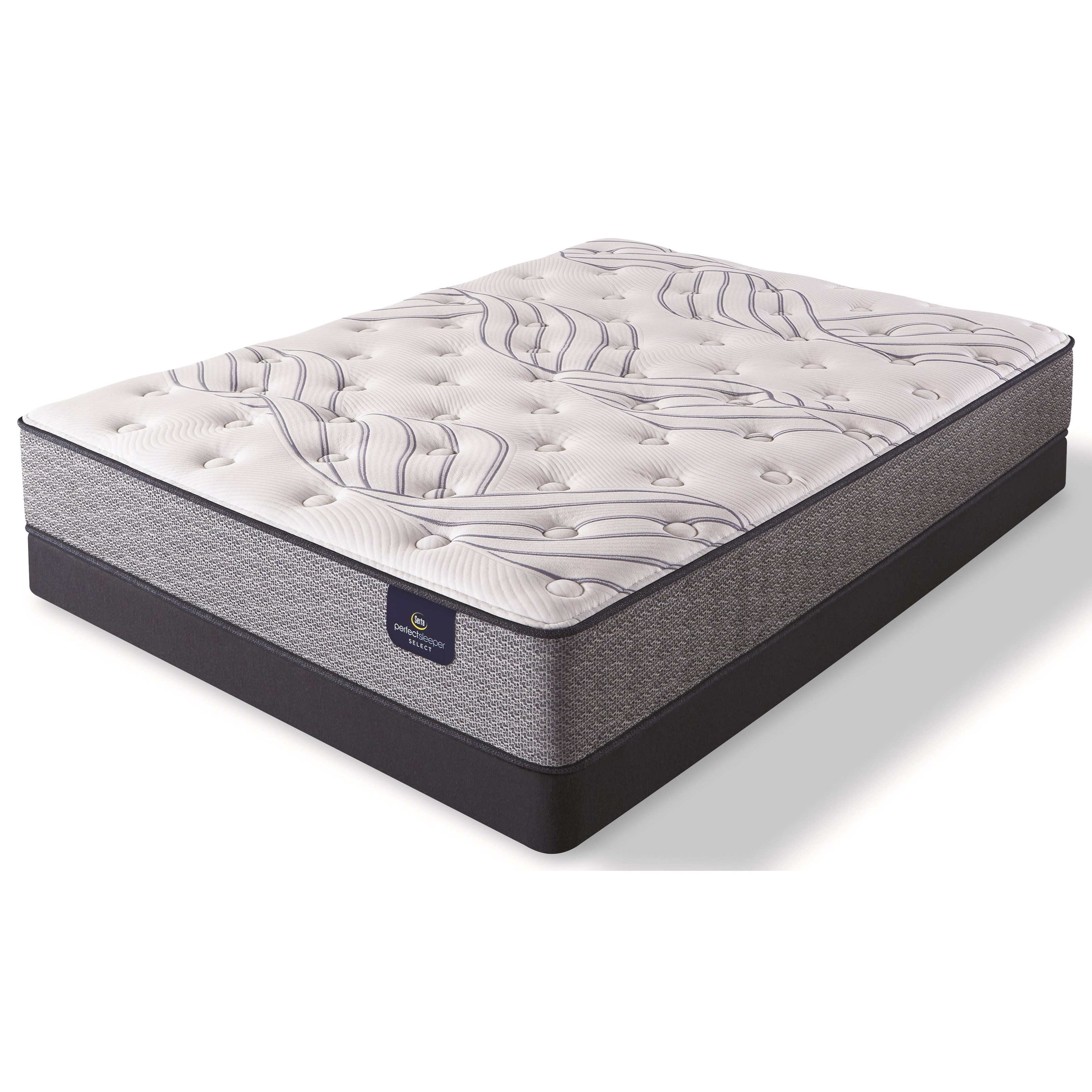 Mayville Plush Twin Pocketed Coil Mattress Low Profile Set by Serta at Walker's Mattress