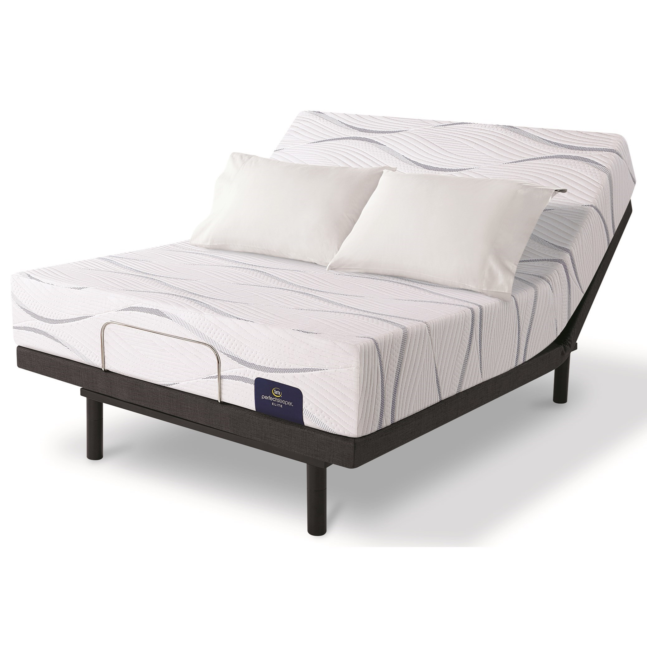 Merriam II Firm Full Gel Memory Foam Adj Mattress Set by Serta at SlumberWorld