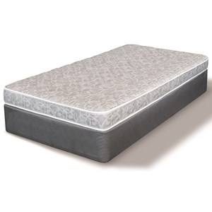 """Full 5"""" Firm Foam Mattress and 5"""" Low Profile Steel Boxspring"""
