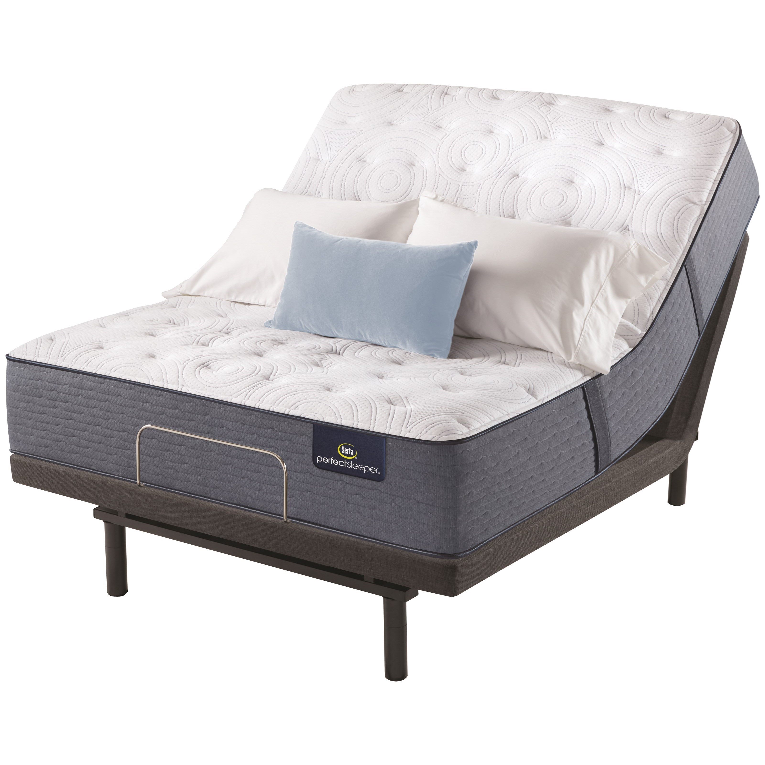 """Chastain Twin XL 13"""" Extra Firm Adjustable Set by Serta at Morris Home"""